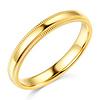3mm Milgrain Lite COMFORT FIT 14K Yellow Gold Wedding Ring