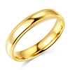 4mm Milgrain Lite COMFORT FIT 14K Yellow Gold Wedding Band