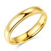 4mm Milgrain Lite COMFORT FIT 14K Yellow Gold Wedding Band