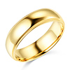 6mm Milgrain Lite COMFORT FIT 14K Yellow Gold Wedding Band