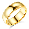 7mm Milgrain Lite COMFORT FIT 14K Yellow Gold Wedding Band