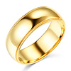 8mm Milgrain Lite COMFORT FIT 14K Yellow Gold Wedding Band
