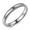 3mm Milgrain Lite COMFORT FIT 14K White Gold Wedding Ring