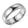 6mm Lite COMFORT FIT Milgrain 14K White Gold Wedding Band Ring