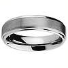6mm Rounded Edge Cobalt Free Tungsten Carbide Comfort-fit Wedding Band