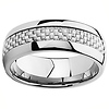 8mm White Carbon Fiber Inlay Cobalt Free Tungsten Carbide Comfort-fit Wedding Band