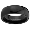 8mm Black Domed Cobalt Free Tungsten Carbide COMFORT-FIT Wedding Band