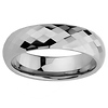 6mm Faceted Cobalt Free Tungsten Carbide COMFORT-FIT Wedding Band