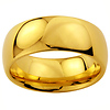 9mm Cobalt Free Tungsten Carbide Gold Plated COMFORT-FIT Wedding Band