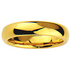 5mm Cobalt Free Tungsten Carbide Gold Plated COMFORT-FIT Wedding Band