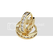 14K Yellow Gold-Plated 3mm Channel Set CZ Huggie Earrings
