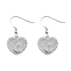 Swirling Heart Shimmering CZ Sterling Silver Drop Earrings