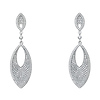 Double Marquis Micro Pave CZ Sterling Silver Dangle Earrings