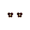 14K Yellow Gold January CZ Birthstone Butterfly Stud Earrings (Garnet, Deep Red)