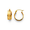 14K Yellow Gold 5mm Thickness Fancy Hoop Earrings (0.5