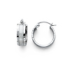 14K White Gold 5mm Thickness Fancy Hoop Earrings (0.5