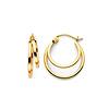 4mm Double Hoop 14K Yellow Gold Earrings (2x16mm)