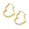 14K Yellow Gold High Polished Small Heart Earrings