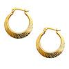Diamond-Cut 14K Yellow Gold Hoop Earrings (2x20mm)