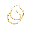 Medium 14K Yellow Gold Hoop Earrings (2x25mm)