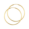 Extra Large Polished Endless 14K Yellow Gold Hoop Earrings 1.5x50mm