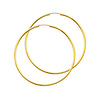 High Polished Large 14K Yellow Gold Hoop Earrings (2x55mm)