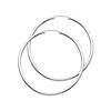 14K White Gold 2mm Thickness High Polished Large Endless Hoop Earrings  (1.8
