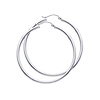 14K White Gold 2mm Thickness Classic High Polished Hinged Hoop Earrings  (1.8