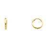 14k Yellow Gold 2mm Thickness Small Huggies Earrings (0.4