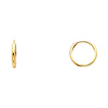 14k Yellow Gold 2mm Thickness Small Domed Huggies Earrings (0.4