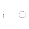 14k White Gold 2mm Thickness Small Domed Huggies Earrings (0.4