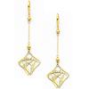 14K Yellow Gold Fancy Dangle Hanging Earrings