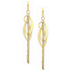Intertwining Chandelier Tassel Earrings in 14K Yellow Gold 87mm