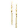 14K White Gold Fancy Beaded Tassel Earrings 85mm