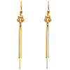 14K Yellow Gold Fancy Dangle Hanging Earrings