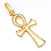 Medium 14K Yellow Gold Ankh Pendant
