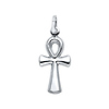 Medium 14K White Gold Ankh Pendant