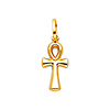 Small 14K Yellow Gold Ankh Pendant Charm