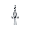 Small 14K White Gold Ankh Pendant Charm