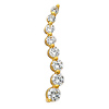 14K Yellow Gold CZ Cubic Zirconia Journey Charm Pendant