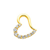 Journey Heart 14K Yellow Gold Cubic Zirconia Charm Pendant