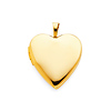 14K Yellow Gold Heart Locket Pendant (0.8