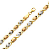 Diamond Cut Stampato XOXO Tri-Color 14K Gold  Bracelet