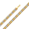 Diamond Cut Stampato Tri-Color 14K Gold  Bracelet