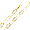 Light Fashion Link 14K Yellow and White Gold Bracelet