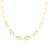 14K Yellow and White Gold Light Fashion Link Necklace with Lobster Claw Clasp