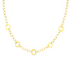 14K Yellow Gold 15mm Circle Link Necklace with Lobster Clasp
