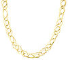 10mm Women's Light Fashion Link 14K Yellow Gold Necklace
