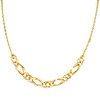 Figaroesque 12mm Women's 14K Yellow Gold Link Necklace
