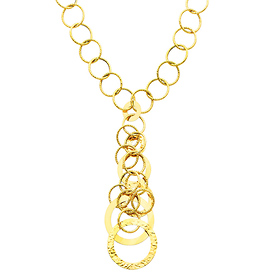 yellow gold airy fashion link necklace